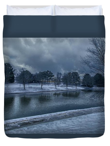 Icy Reflections  Duvet Cover by Dennis Baswell