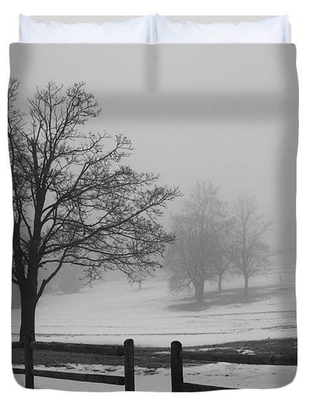 Wintry Morning Duvet Cover
