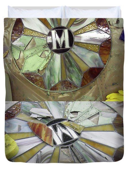 Wip-stain Glass Duvet Cover by Cindy D Chinn