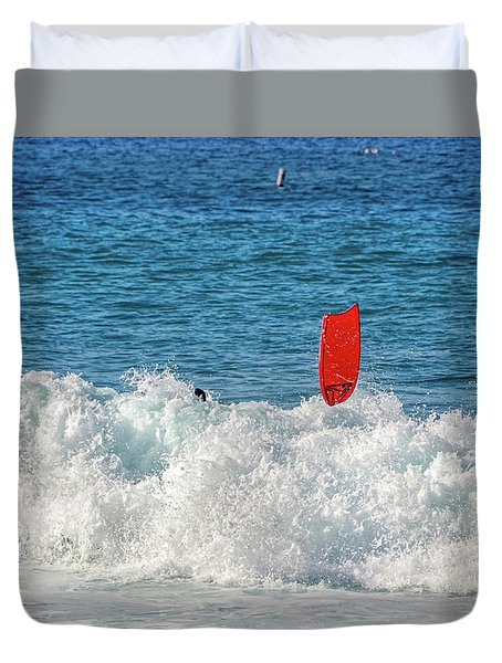 Duvet Cover featuring the photograph Wipe Out by David Lawson