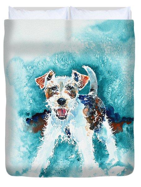 Wire Fox Terrier Duvet Cover