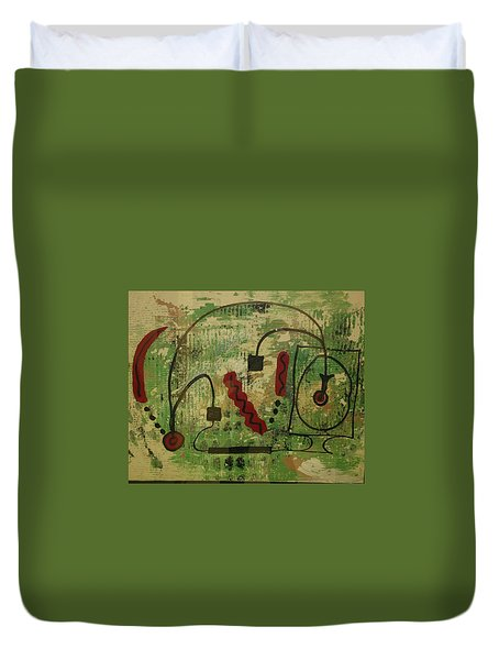 Wired Composition Enigma Duvet Cover