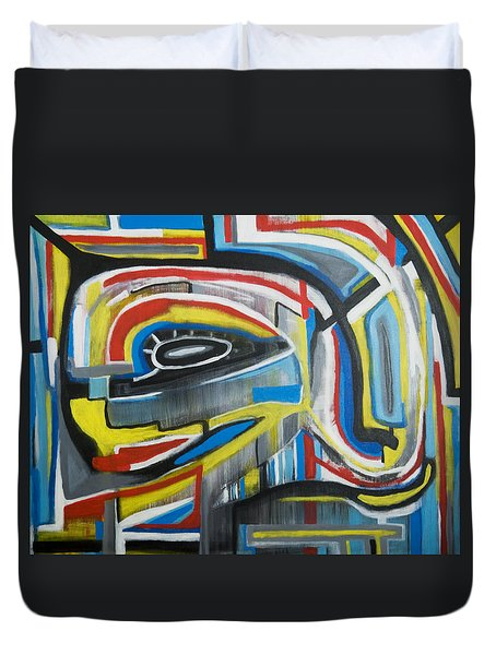 Duvet Cover featuring the painting Wired Dreams  by Jose Rojas