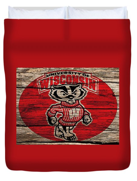 Wisconsin Badgers Barn Door Duvet Cover