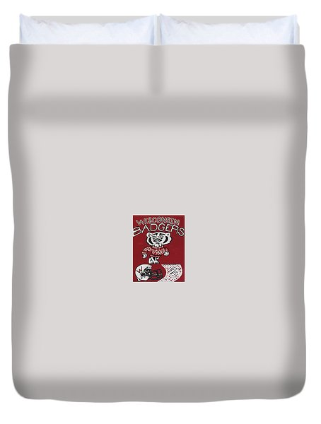Wisconsin Badgers Duvet Cover
