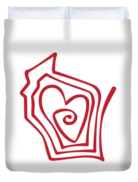 Wisconsin Drawn Duvet Cover