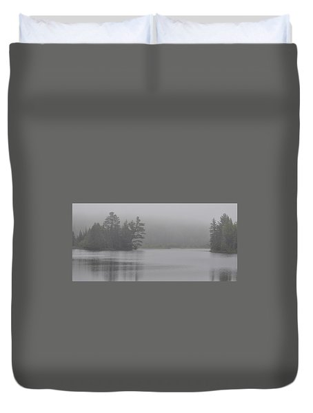 Wisconsin In Grey And Green Duvet Cover