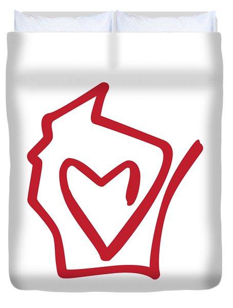 Wisconsin Love Duvet Cover