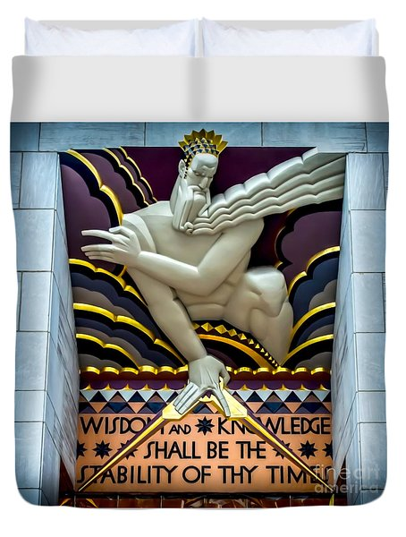 Wisdom And Knowledge Duvet Cover
