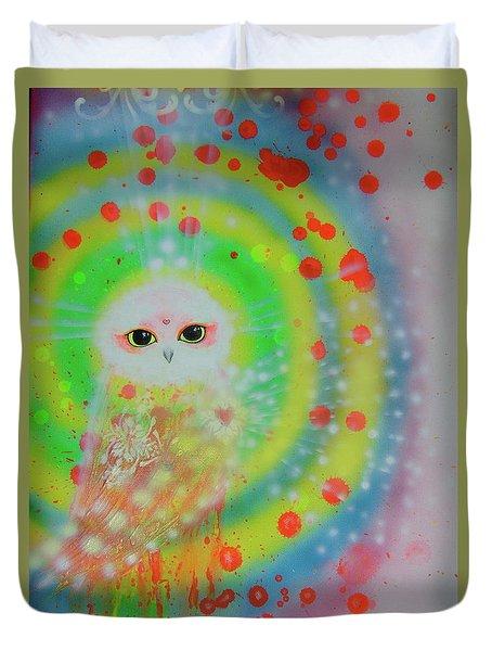 Wisdom Of  The Owl  Duvet Cover