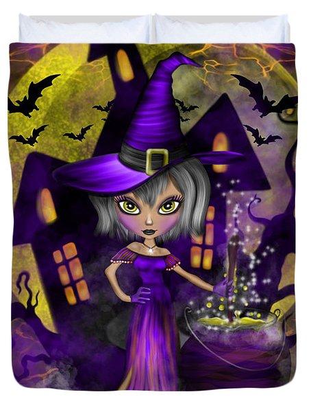 Wisdom Witch Fantasy Art Duvet Cover