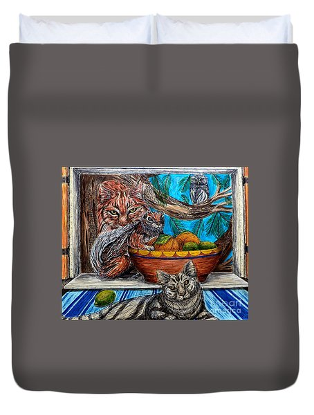 Wisdom Would Say Duvet Cover
