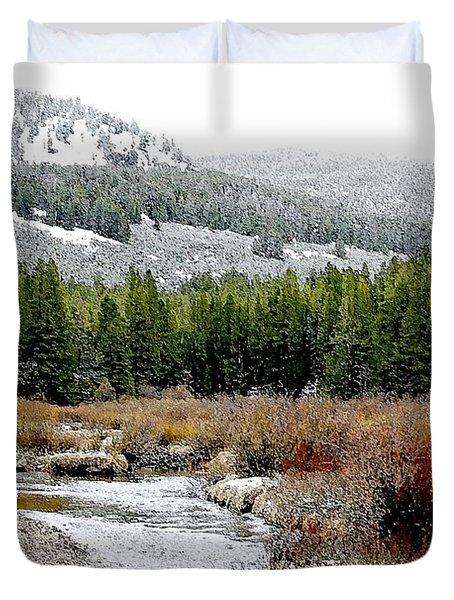 Wise River Montana Duvet Cover