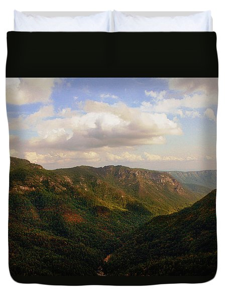 Duvet Cover featuring the photograph Wiseman's View by Jessica Brawley