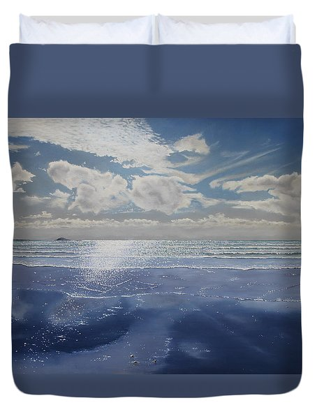 Wish You Were Here Duvet Cover by Paul Newcastle
