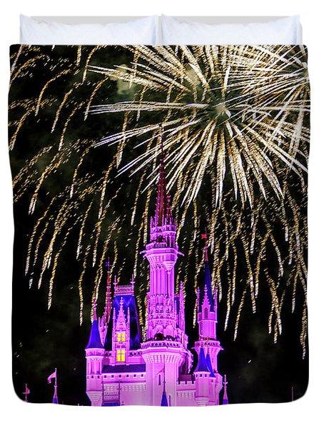 Wishes Fireworks Disney World  Duvet Cover