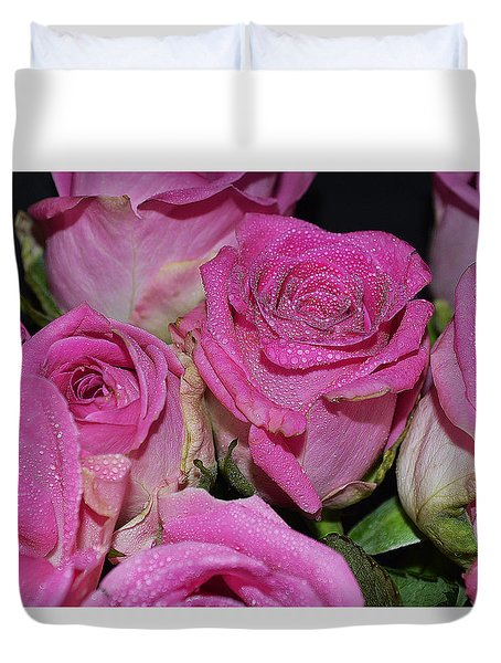 Wishing To See You Happy Duvet Cover by Felicia Tica