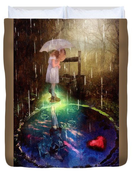 Wishing Well Duvet Cover by Mo T