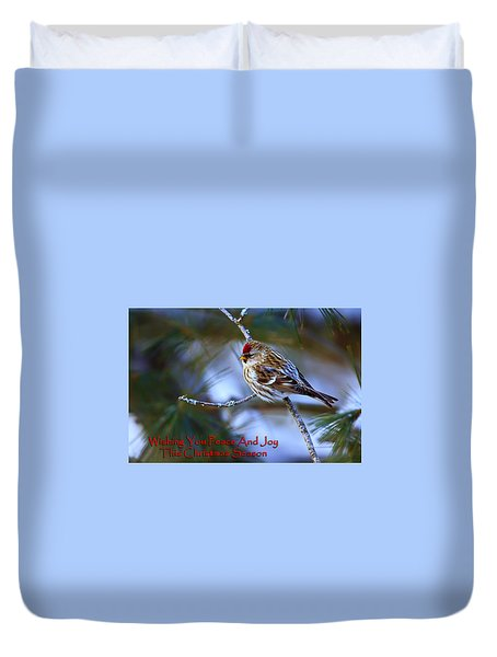 Duvet Cover featuring the photograph Wishing You Peace And Joy by Gary Hall