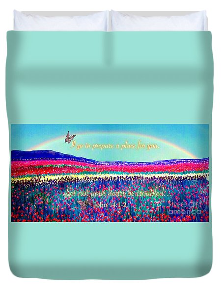 Wishing You The Sunshine Of Tomorrow Bereavement Card Duvet Cover