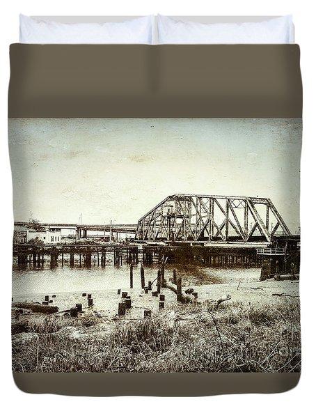 Wishkah River Swing Bridge Duvet Cover