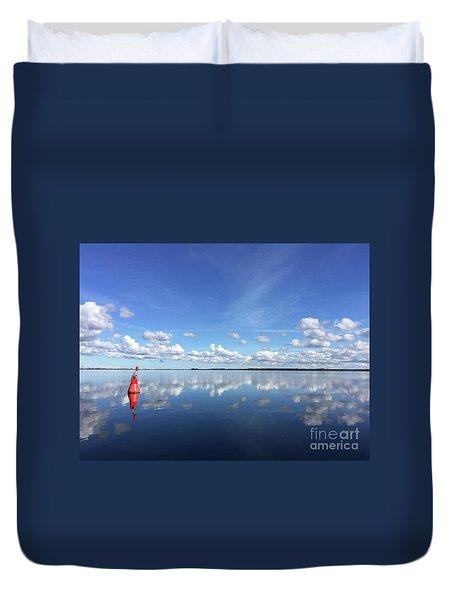 Wismar Bay In Fall Duvet Cover