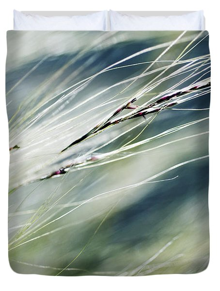 Wispy Grass Duvet Cover by Ray Laskowitz - Printscapes