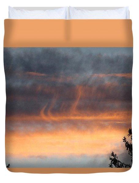 Wispy Sunset Duvet Cover