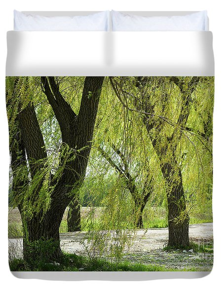 Wispy Willows-1 Duvet Cover