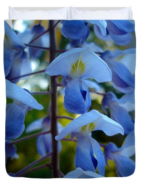 Wisteria - Blue Hooded Ladies Duvet Cover