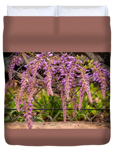 Wisteria Blooming Duvet Cover