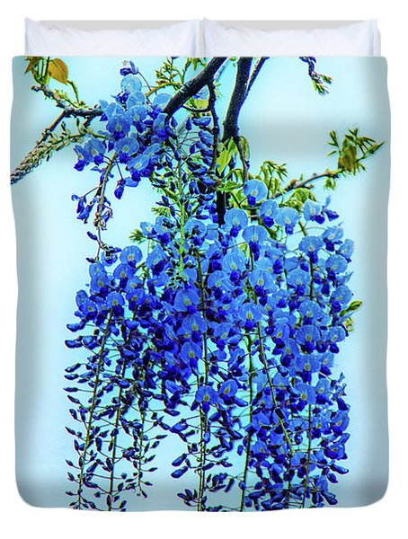 Duvet Cover featuring the photograph Wisteria by Chris Lord