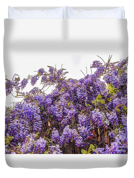 Wisteria Spring Bloom Duvet Cover