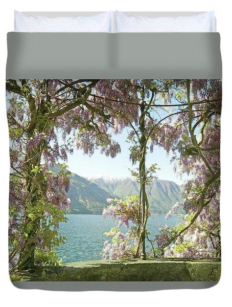 Wisteria Trellis Lago Di Como Duvet Cover