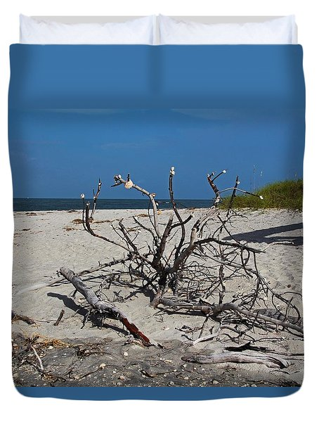Duvet Cover featuring the photograph Wistful But Unwavering by Michiale Schneider