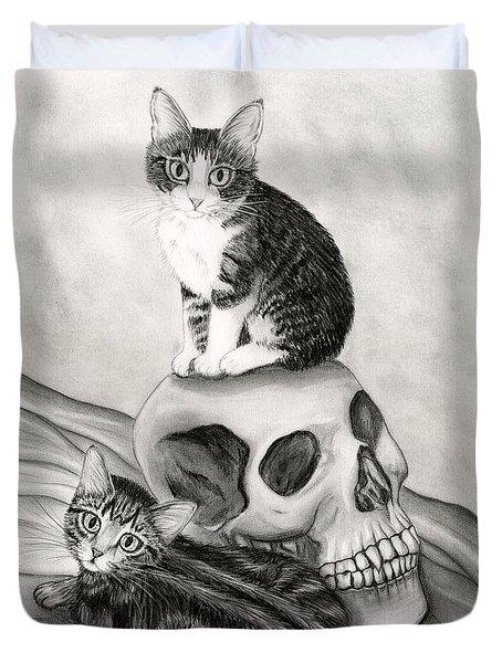 Witch's Kittens Duvet Cover
