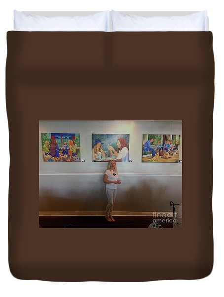 With 3 Paintings Duvet Cover