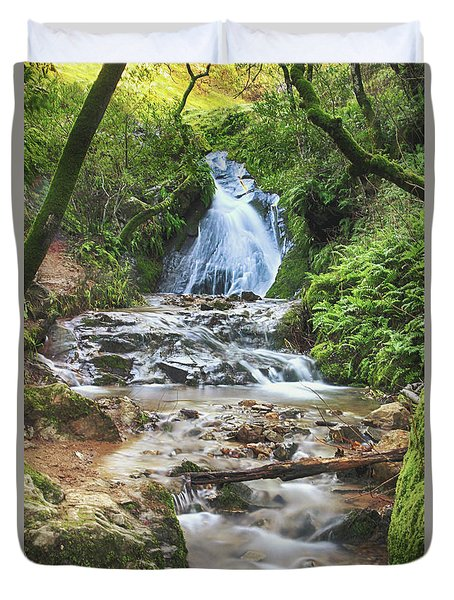 Duvet Cover featuring the photograph With All I Have by Laurie Search