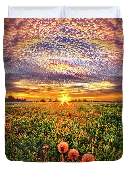 Duvet Cover featuring the photograph With Gratitude by Phil Koch