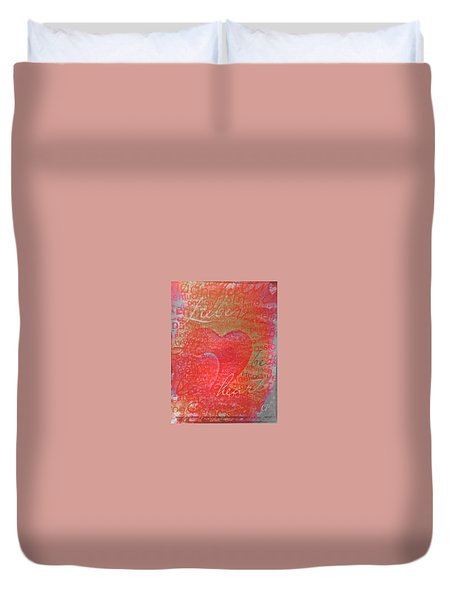 With Heart Duvet Cover