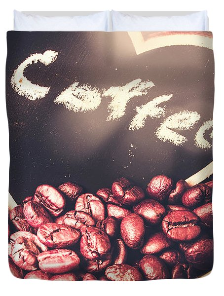 With Light And Coffee Love Duvet Cover