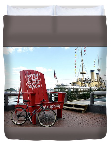 With Love From Philly Duvet Cover