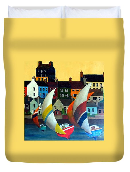 With The Wind In Kinsale, West Cork Duvet Cover