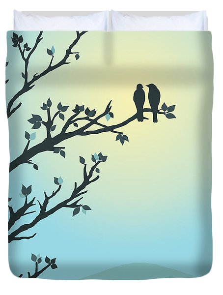 With You By My Side Duvet Cover