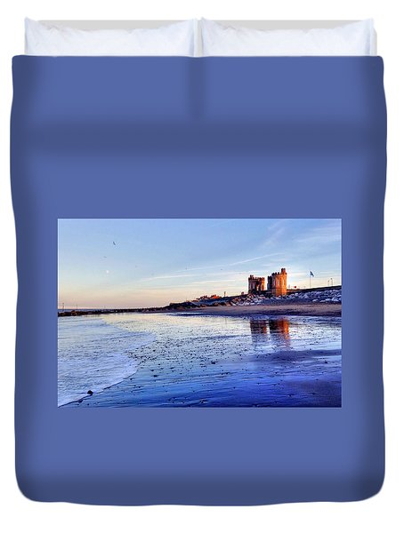 Withernsea Sunset And Moon Duvet Cover
