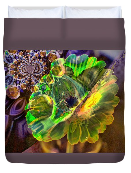 Duvet Cover featuring the photograph Within The Mind Meld by Jeff Swan