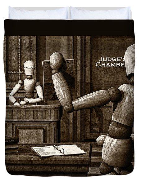 Witness For The Prosecution Duvet Cover by Bob Orsillo