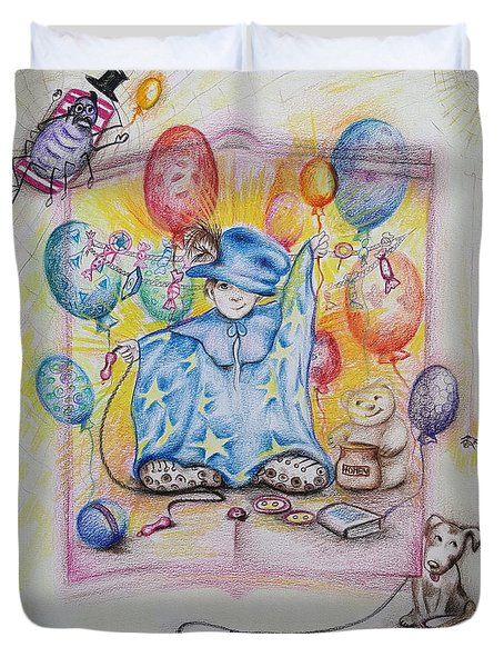 Wizard Boy Duvet Cover by Rita Fetisov