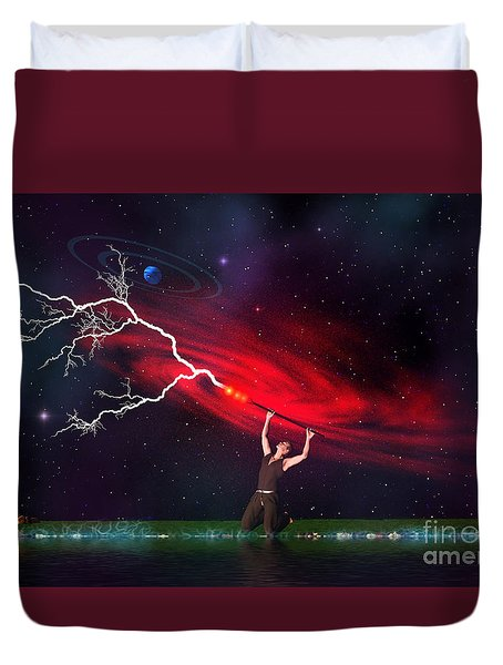 Wizard Duvet Cover by Corey Ford