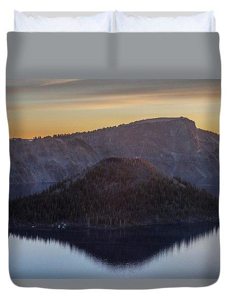 Wizard Island Morning Duvet Cover